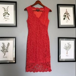 Really pretty coral lace dress
